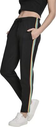Urban Classics Women's Ladies Multicolor Side Taped Track Pants Short