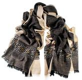 Black Manali Himalayan Cashmere and Wool Scarf