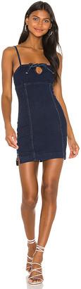superdown Adelie Tie Front Mini Dress. - size L (also
