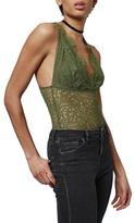 Topshop Lace Plunge Bodysuit (Petite)
