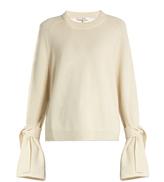 Tibi Tie-sleeve cashmere sweater