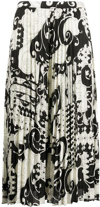 Twin-Set Pleated Midi Skirt