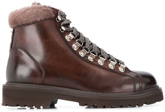 Eleventy Lace-Up Ankle Boots