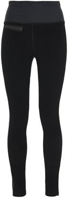 Erin Snow Merino Wool-blend Velour Leggings