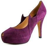 Rebeca Sanver Sombra-sin Open Toe Suede Platform Heel.