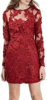 Topshop Lace Appliqué Long Sleeve Minidress
