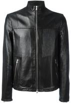 Diesel Black Gold perforated jacket - men - Lamb Skin/Viscose - 46
