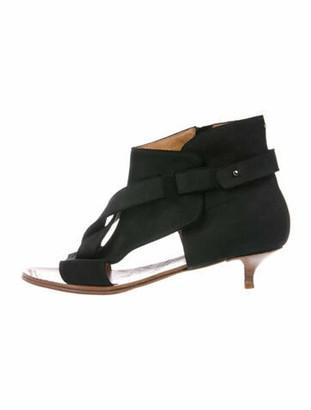 Maison Margiela Suede Cutout Accent Boots Black