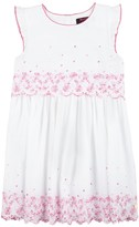 Juicy Couture Girls Soft Woven Eyelet Embroidery Dress
