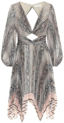 Zimmermann Corsage snake-printed dress