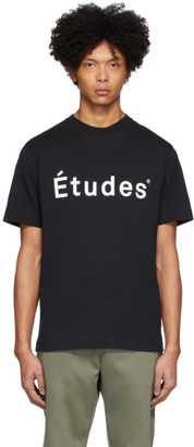 Études Black Wonder Logo T-Shirt