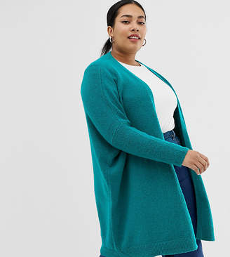 Asos DESIGN Curve eco oversize cardigan in fluffy yarn-Green