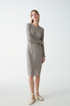 Cos Double Layer Long-Sleeved Dress