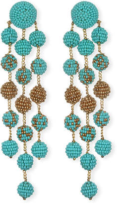 Suzanna Dai Samburu Long Chandelier Earrings