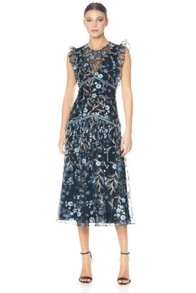 ML Monique Lhuillier Sleeveless Midi Dress