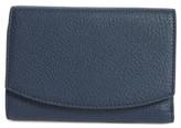 Skagen Women's Compact Leather Flap Wallet - Blue