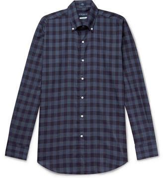Peter Millar Reigns Button-Down Collar Checked Cotton Shirt