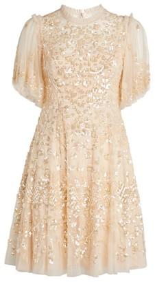 Needle & Thread Honesty Flower Embellished Mini Dress