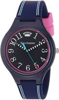 Juicy Couture Women's 'Day Dreamer' Quartz Plastic and Silicone Casual Watch, Color: (Model: 1901563)