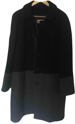 Gerard Darel Anthracite Wool Coat for Women