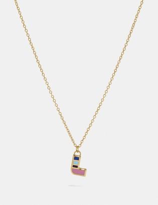 Coach 80'S Retro Alphabet L Charm Necklace