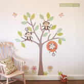 Cheeky Monkey Parkins Interiors Swing Tree Wall Stickers