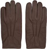 Reiss Glenworth - Tumbled Leather Gloves in Brown, Mens