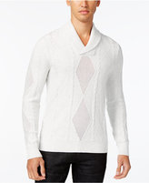 INC International Concepts Men's Mesh Diamond Cable Knit Sweater, Only at Macy's