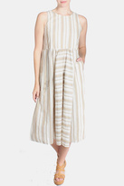 Ciel Striped Canvas Dress