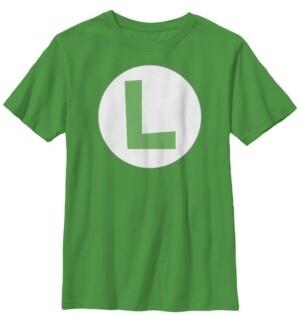 Fifth Sun Nintendo Big Boy's Super Mario Luigi Icon Costume Short Sleeve T-Shirt