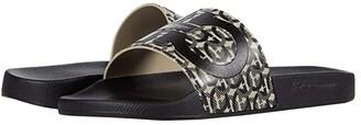 Salvatore Ferragamo Groove 6 Sandal (Beige/Black) Men's Shoes