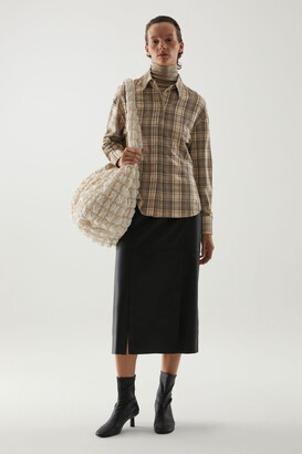 Cos Checked Wool Shirt