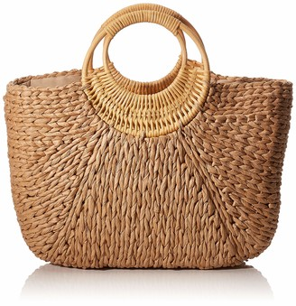 Pieces Pcnoomi Straw Bag Sww Womens Top-Handle Bag
