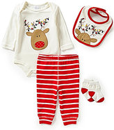 Starting Out Baby Boys Newborn-9 Months Christmas Rudolph 4-Piece Layette Set