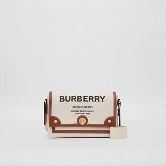 Burberry Horseferry Print Canvas Note Crossbody Bag
