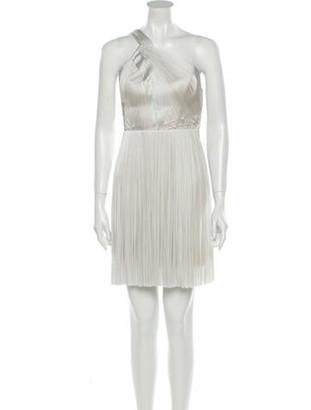 Maria Lucia Hohan One-Shoulder Mini Dress w/ Tags Blue