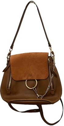 Chloé Faye Brown Leather Backpacks