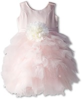 Us Angels Satin and Tulle Dress w/ Flower (Toddler)