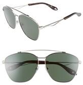 Givenchy Men's 65Mm Navigator Sunglasses - Palladium