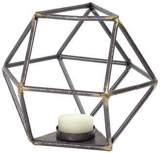 American Art Decor Geometric Tealight Candle Holder Triangular Base Table Top Sculpture