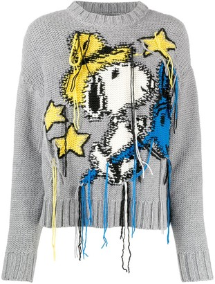 Alanui Snoopy Fringed Jumper