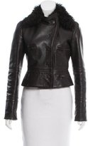 Alessandro Dell'Acqua Fur-Trimmed Leather Jacket