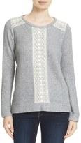 Soft Joie Crewneck Lace Trim Sweater