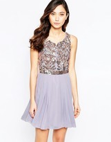 Virgos Lounge Virgo's Lounge Petal Skater Dress with Embellished Top