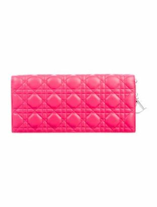 Christian Dior Cannage Lady Clutch Pink
