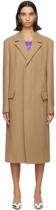 Kwaidan Editions Tan Wool and Cashmere Oversized Coat