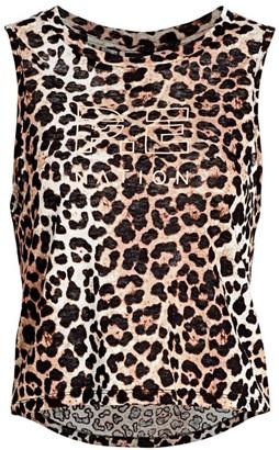 P.E Nation Leopard Sleeveless T-Shirt