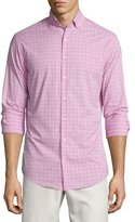 Peter Millar English Performance Glen Plaid Sport Shirt, Pink