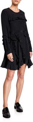 IRO Frill Long Sleeve Dress