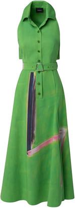 Akris Belted Cotton Shirt Dress